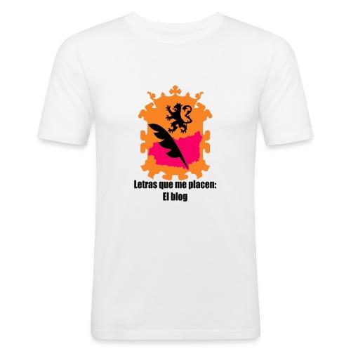 LQMP_escudo_naranja - Camiseta ajustada hombre