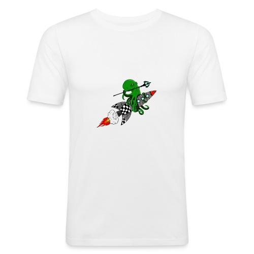inktvis strijder - Mannen slim fit T-shirt