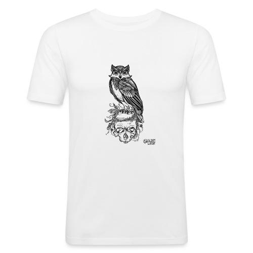 Owl' n Skull - Maglietta aderente da uomo