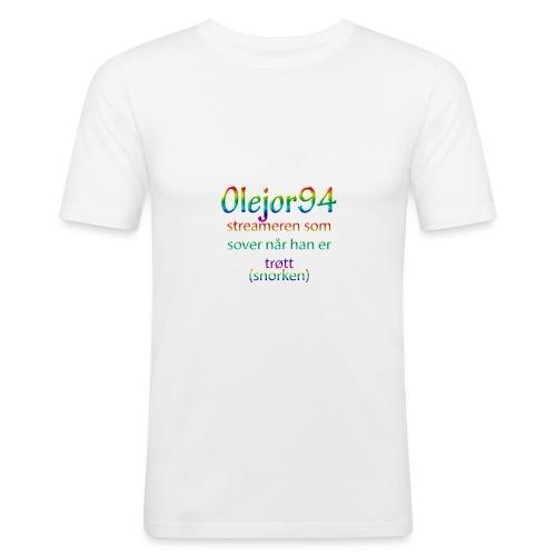 Olejor94 sover snorken - Slim Fit T-skjorte for menn