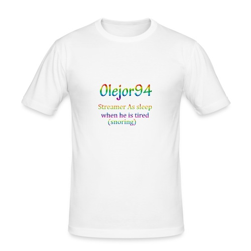 Olejor94 sover snorken English - Slim Fit T-skjorte for menn