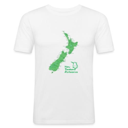 New Zealand's Map - Men's Slim Fit T-Shirt