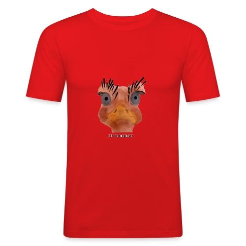 Srauss, again Monday, English writing - Men's Slim Fit T-Shirt