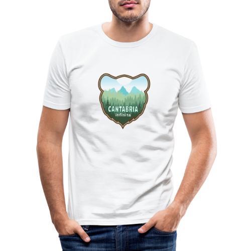 Oso en cantabria infinita - Camiseta ajustada hombre