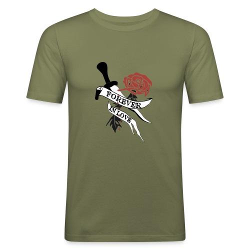 Forever in Love - Männer Slim Fit T-Shirt