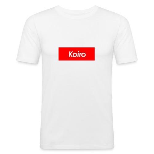 Koiro - Punainen - Miesten tyköistuva t-paita