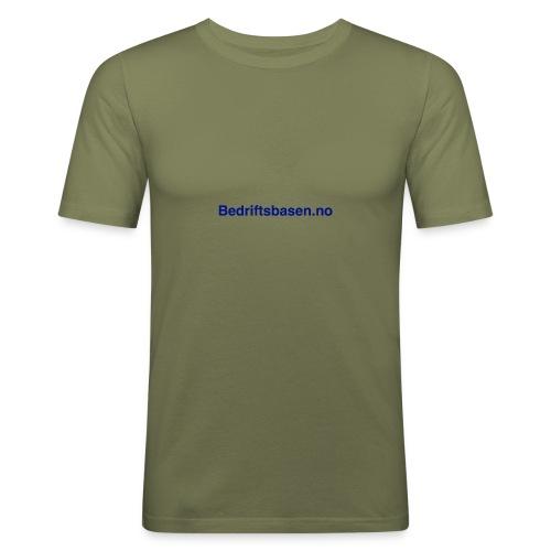 Bedriftsbasen.no logo - Slim Fit T-skjorte for menn