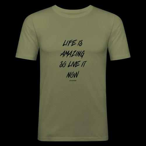 Life is amazing Samsung Case - Men's Slim Fit T-Shirt