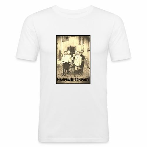 Manpower Company - Männer Slim Fit T-Shirt