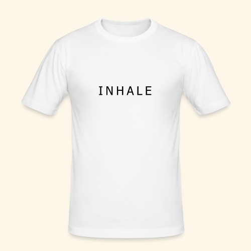 INHALE WHITE - Maglietta aderente da uomo