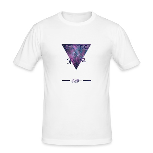 escape to space ~ N.Cuntz - Männer Slim Fit T-Shirt