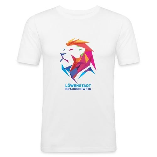 Löwenstadt Design 7 - Männer Slim Fit T-Shirt