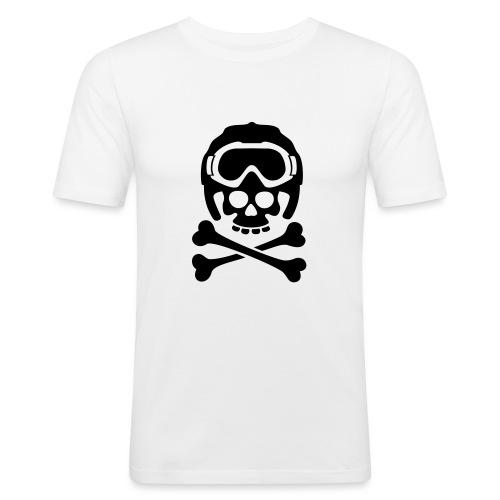 snowboard totenkopf1 - Männer Slim Fit T-Shirt