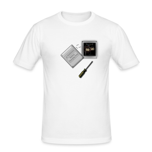 Battery Heart Economy T Shirt - Men's Slim Fit T-Shirt