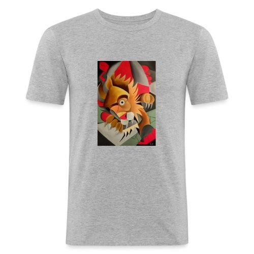 leone - Maglietta aderente da uomo