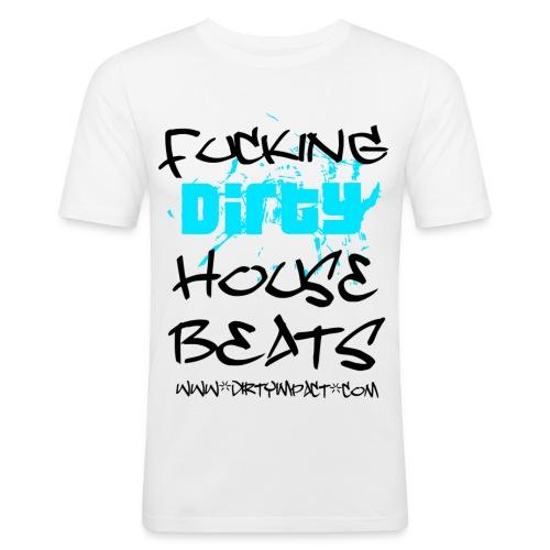 housebeatswhite - Männer Slim Fit T-Shirt
