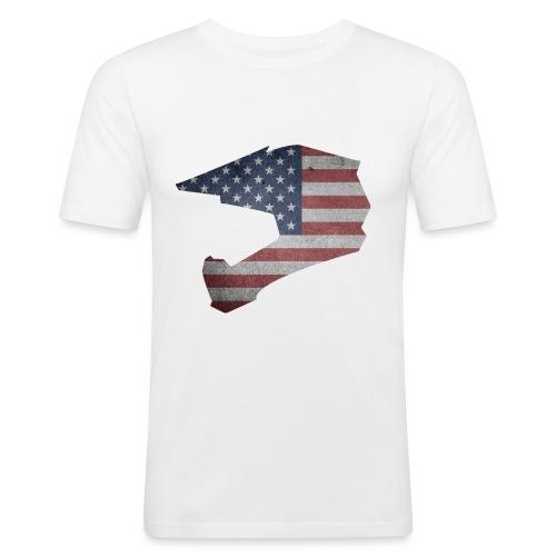 DOWNHILL HELM USA STYLE - Männer Slim Fit T-Shirt