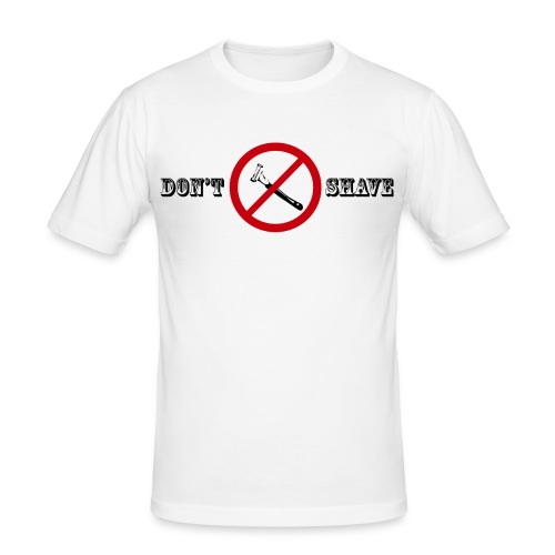 dontshave 2 png - T-shirt près du corps Homme