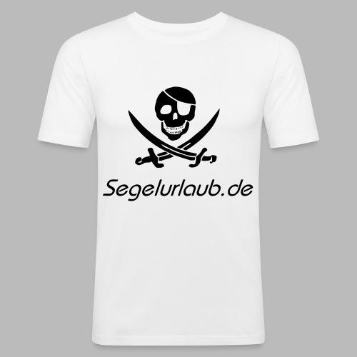 Piraten Flaggen Shirt Segelurlaub - Männer Slim Fit T-Shirt