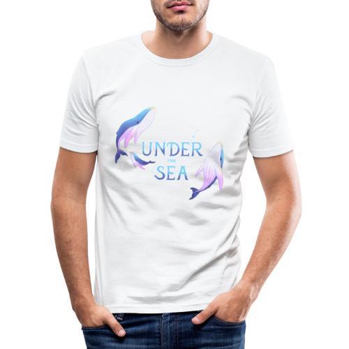 Under the Sea - Les Baleines - T-shirt près du corps Homme