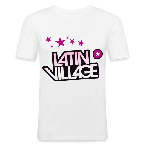 logo latin village westergas 2010 zond - Mannen slim fit T-shirt
