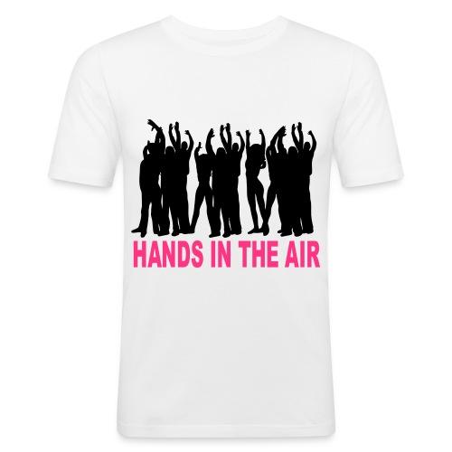 handsintheair 2col - Men's Slim Fit T-Shirt