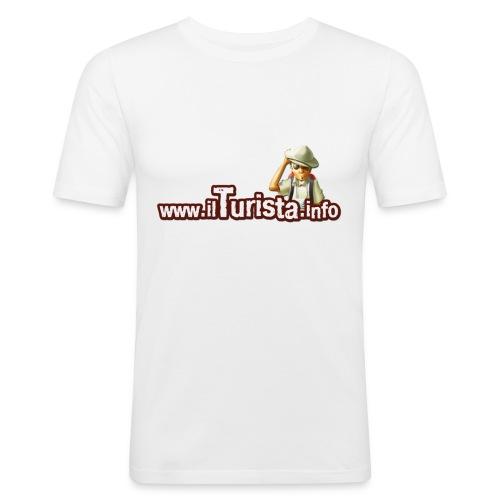 turista scontornata - Maglietta aderente da uomo