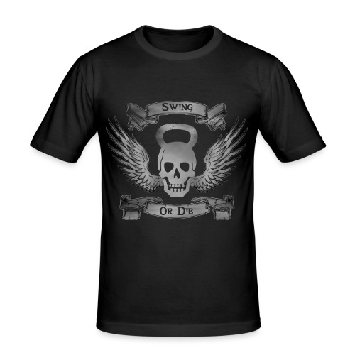 Swing or die png - T-shirt près du corps Homme