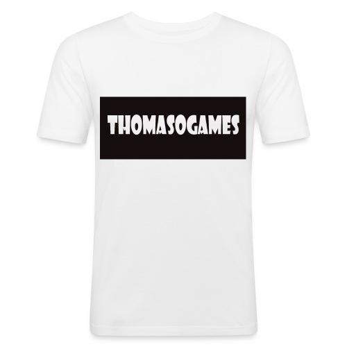ThomasoGames Logo - Mannen slim fit T-shirt