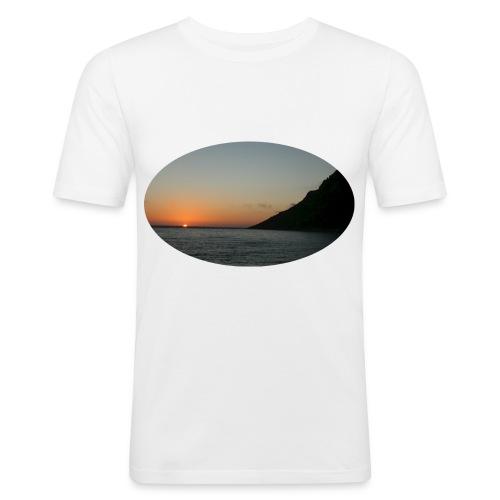 midnattsol 7650a png - Slim Fit T-skjorte for menn