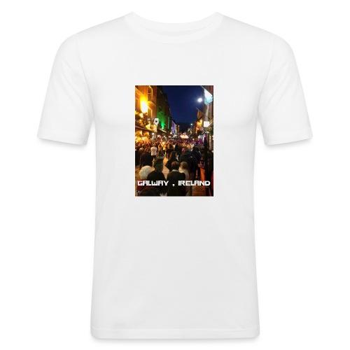 GALWAY IRELAND SHOP STREET - Men's Slim Fit T-Shirt