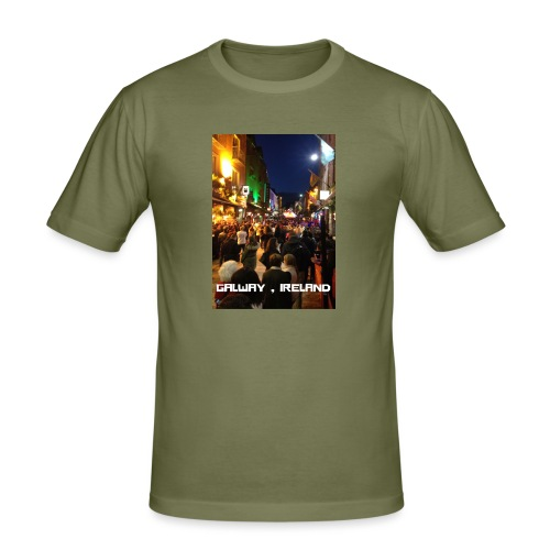 GALWAY IRELAND SHOP STREET - Men's Slim Fit T-Shirt