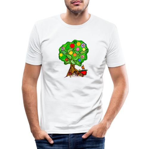 LebensBaum - Männer Slim Fit T-Shirt