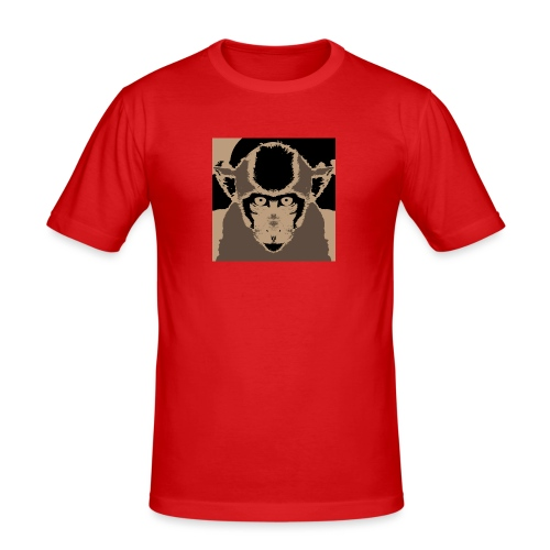 Monkey (Macaca fascicularis) - Men's Slim Fit T-Shirt