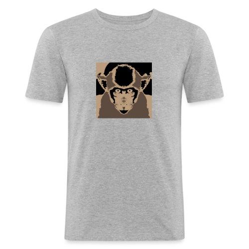 Monkey (Macaca fascicularis) - Men's Slim Fit T-Shirt