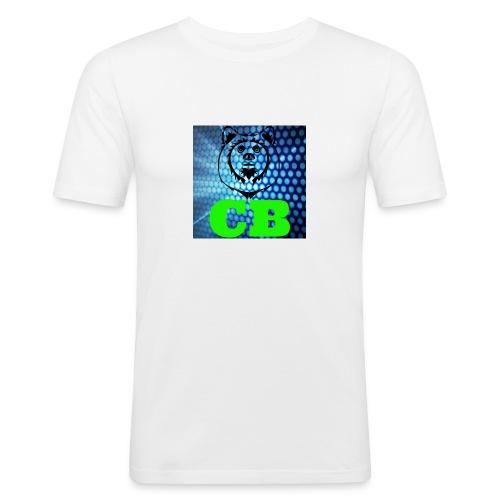 CB Classic Musematte (hvit) - Slim Fit T-skjorte for menn