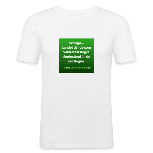 I_Sverige_la--ter_vi_va--ldta--ktsma--n_ga--_fria- - Slim Fit T-shirt herr