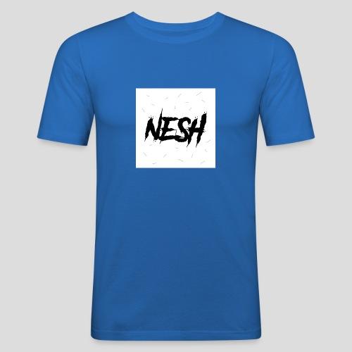 Nesh Logo - Männer Slim Fit T-Shirt