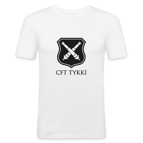 Tykki logo musta - Miesten tyköistuva t-paita