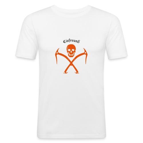 Eisfreund zweifarbig - Männer Slim Fit T-Shirt