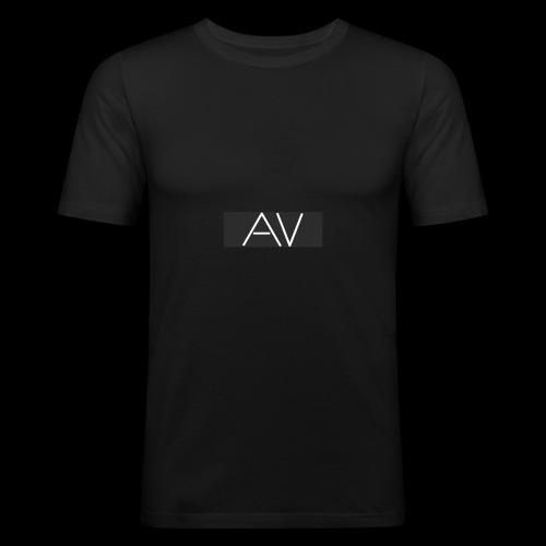 AV White - Men's Slim Fit T-Shirt