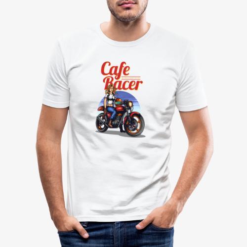 Cafe Racer - Männer Slim Fit T-Shirt