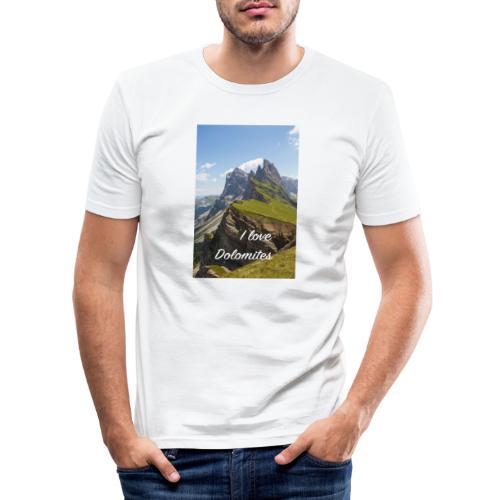 Naturpark Puez Geisler - Männer Slim Fit T-Shirt