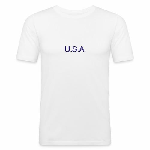 USA LOGO - T-shirt près du corps Homme