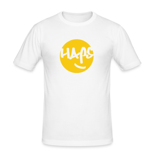 HAPS Yellow Logo - Men's Slim Fit T-Shirt
