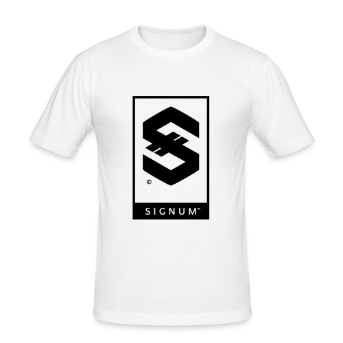 signumOriginalLabelBW - Men's Slim Fit T-Shirt