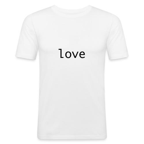 love - Slim Fit T-shirt herr