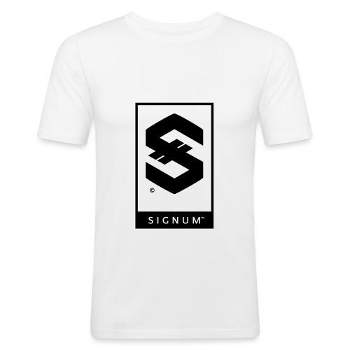 signumOriginalLabelBW - Men's Slim Fit T-Shirt