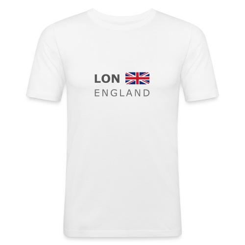 LON ENGLAND BF dark-lettered 400 dpi - Men's Slim Fit T-Shirt