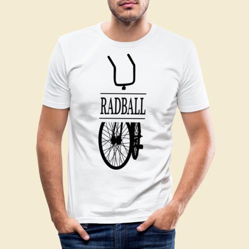Radball | Retro Black - Männer Slim Fit T-Shirt